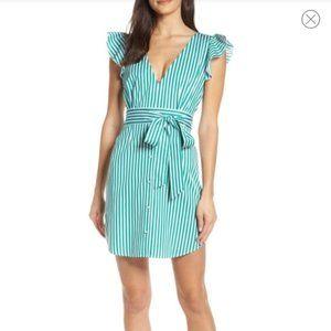 BB Dakota Peppermint Stripe Dress Size 10